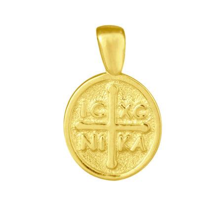 Χρυσό Κωνσταντινάτο για Μωρά 9Κ ΙΧΝΚ Σταυρός