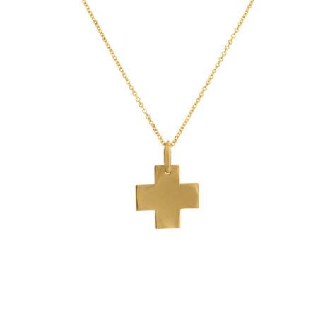 Γυναικείο Χρυσό Σταυρουδάκι Με Αλυσίδα 14Κ