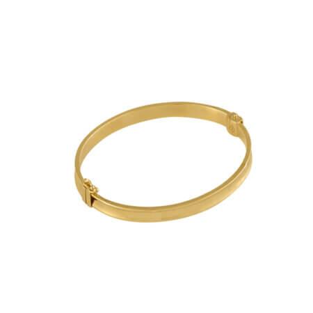 Γυναικείο Χρυσό Βραχιόλι Χειροπέδα 14 Καρατίων