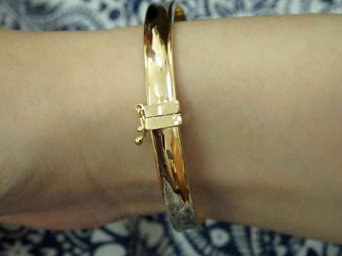 Γυναικείο Χρυσό Βραχιόλι Χειροπέδα 14 Καρατίων Δώρο Κόσμημα Επέτειος