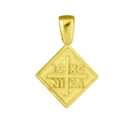 Κρεμαστό Χρυσό Κωνσταντινάτο 9κ ΙΧΝΚ Σταυρός Γυναίκα Κορίτσι Αγόρι