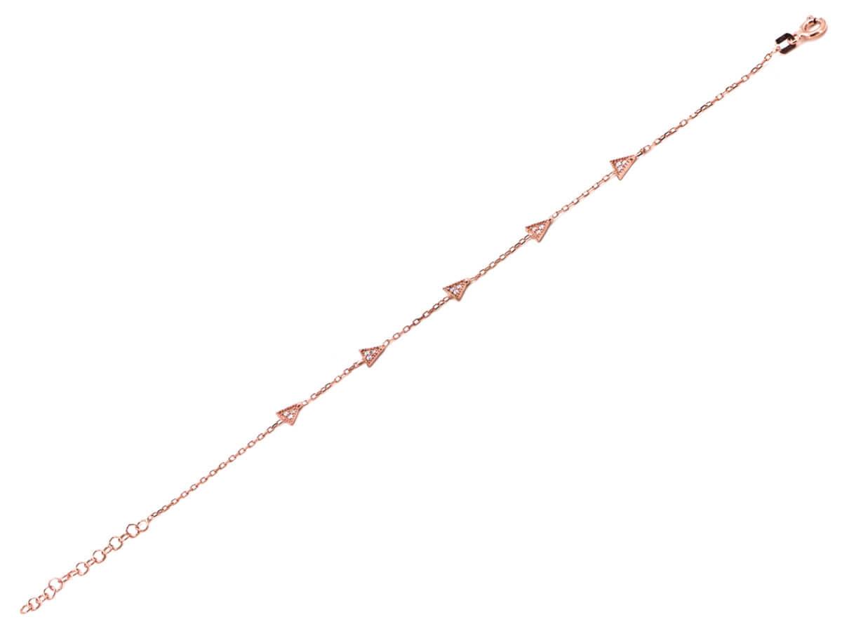 Βραχιόλι Από Ασήμι 925 Ροζ Χρώμα Ζιργκόν Δώρο Γυναικείο