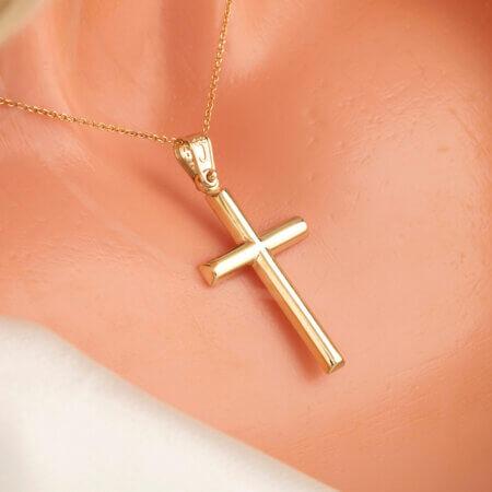 Χρυσός Βαπτιστικός Σταυρός Για Αγόρι Κορίτσι 14Κ Γυναικείο Κόσμημα Γάμος Αρραβώνας