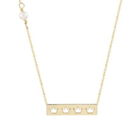 Γυναικείο Χρυσό Κολιέ Με Μαργαριτάρι 14Κ
