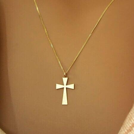 Γυναικείο Χρυσό Σταυρουδάκι Αλυσίδα 9Κ Κόσμημα Μοντέρνο Δώρο