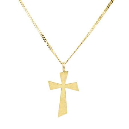 Γυναικείος Σταυρός Χρυσός Μικρός Με Αλυσίδα 9Κ