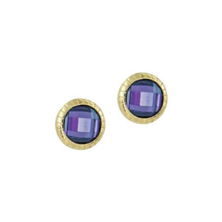 Σκουλαρίκια Χρυσά Με Πέτρα 14Κ