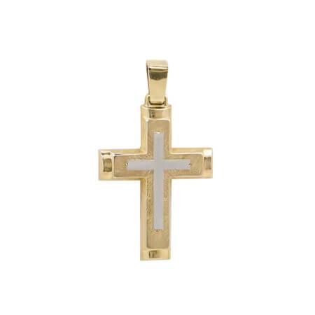 Ανδρικός Σταυρός Χρυσός 14 Καρατίων