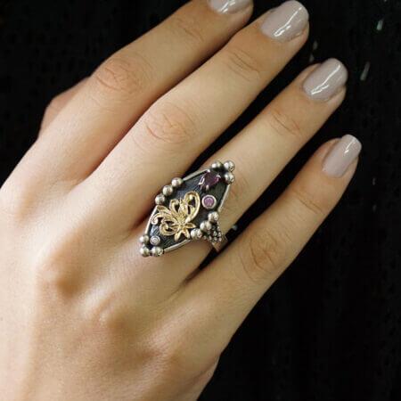 Δαχτυλίδι Με Πέτρες Χειροποίητο