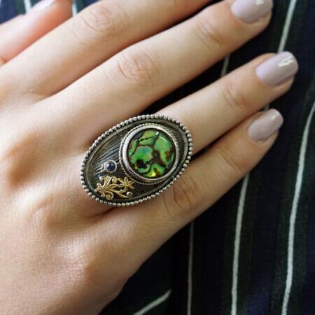 Δαχτυλίδι Γυναικείο Με Ζαφείρι