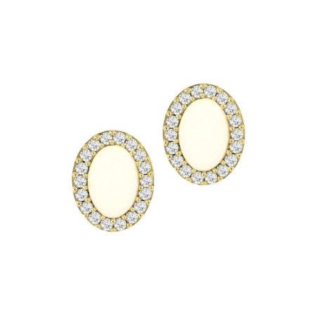 Γυναικεία Σκουλαρίκια Καρφωτά Ροζέτες Σε Χρυσό 9Κ
