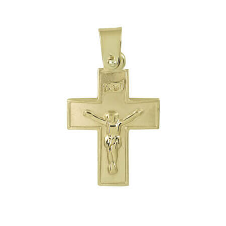 Σταυρός Με Τον Εσταυρωμένο Σε Κίτρινο Χρυσό 14 Καρατίων