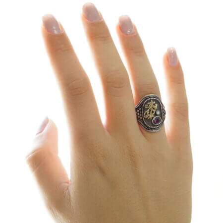 Χειροποίητο Δαχτυλίδι Με Μπριγιάν