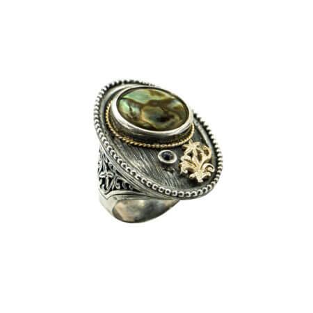 Χειροποίητο Δαχτυλίδι Γυναικείο Με Ζαφείρι Ασήμι 950 Χρυσό 18Κ