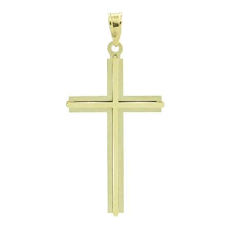 Χρυσός Σταυρός 9 Καράτια Γυναικείος Ανδρικός