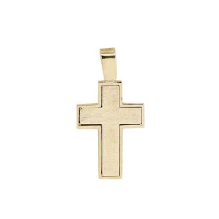 Μοντέρνος Γυναικείος Σταυρός Χρυσός Κ14