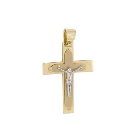Χρυσός Γυναικείος Σταυρός Εσταυρωμένο Κ14