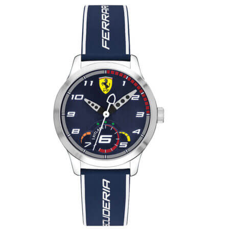 Ανδρικό Ρολόι Ferrari Με Μπλε Λουράκι Scuderia Silicone Strap (κωδ: 0860005)