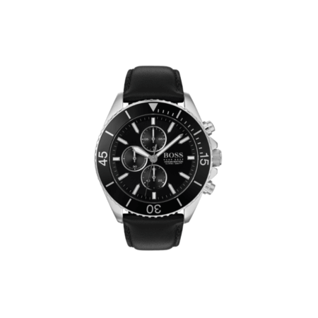 BOSS Ocean Edition Chronograph Ανδρικό Ρολόι Μαύρο Λουράκι 1513697