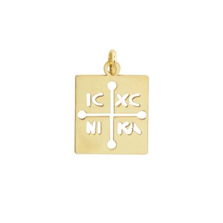 Κωνσταντινάτο Χρυσό 9Κ ΙΧΝΚ Δώρο Γέννησης Βάπτισης Αγοριού Κοριτσιού