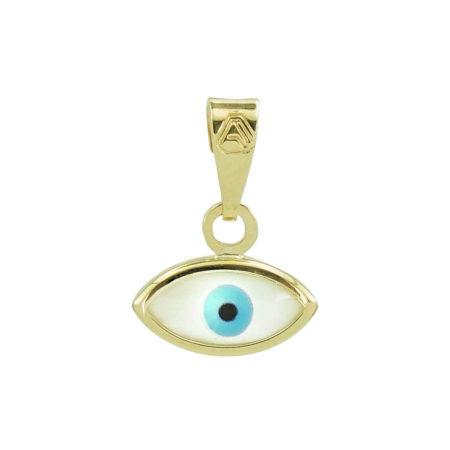 Μενταγιόν Μάτι Χρυσό 9 Καρατίων