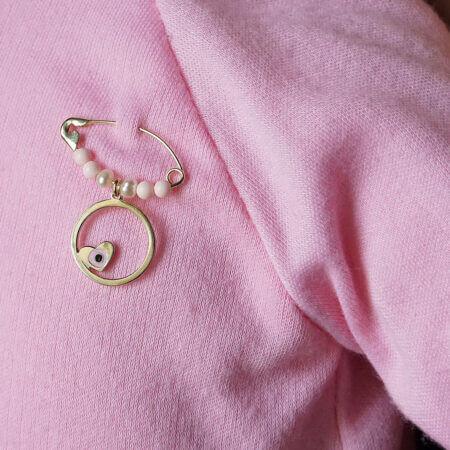 Παραμάνα Με Ματάκι Καρδούλα Σε Χρυσό 9 Καρατίων Για Κορίτσια