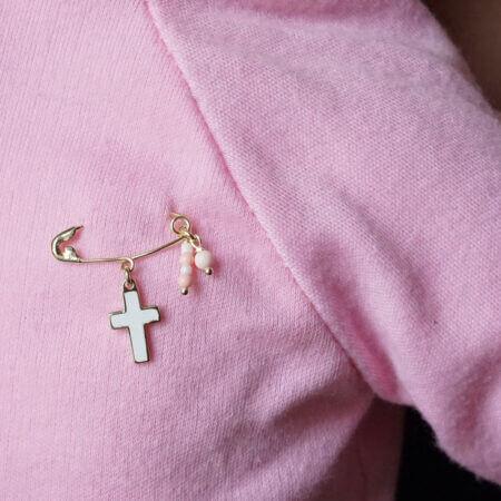 Παραμάνα Για Νεογέννητο Κορίτσι 9Κ Για Βάπτιση