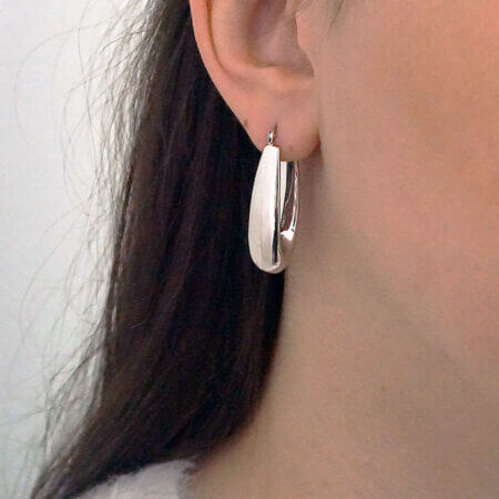 Σκουλαρίκια Κρεμαστά Λευκόχρυσα