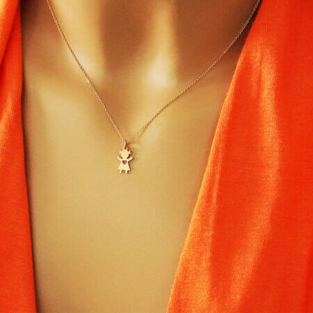 Μενταγιόν Ροζ Χρυσό Για Μαμά 9 Καράτια Αλυσίδα Κόσμημα Δώρο