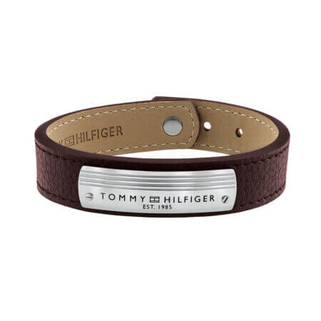 Tommy HIlfiger Βραχιόλι Ανδρικό Καφέ Δέρμα Ανοξείδωτο Ατσάλι 2790181