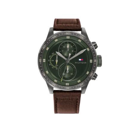 Ανδρικό Ρολόι Με Καφέ Λουράκι Tommy Hilfiger Trent 1791809