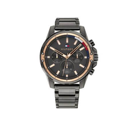 Ανδρικό Ρολόι Tommy Hilfiger Mason Grey Rose Gold Stainless Steel Bracelet 1791790
