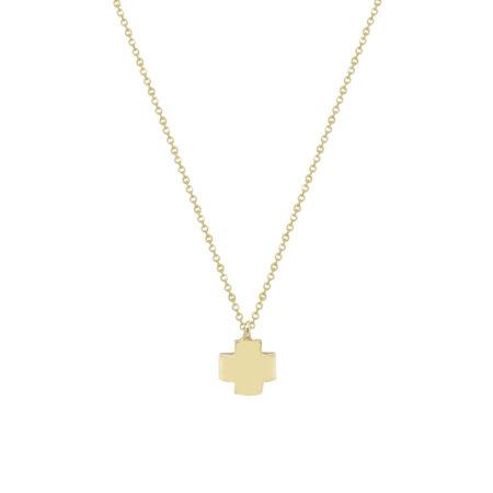 Χρυσό Σταυρουδάκι Με Αλυσίδα 9 Καρατίων (κωδ: GC580)