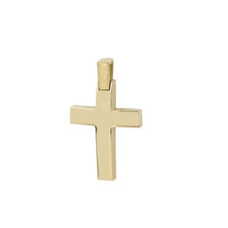 Χρυσός Σταυρός Λαιμού 14 Καρατίων Δύο Όψεων (κωδ: GC597)
