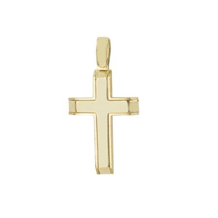 Κίτρινος Χρυσός Σταυρός Σε Κλασική Γραμμή 14Κ (κωδ: GC604)