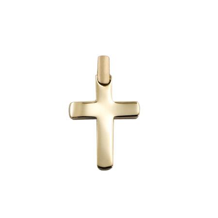 Κίτρινος Χρυσός Σταυρός Σε Μοντέρνα Γραμμή 14Κ (κωδ: GC609)