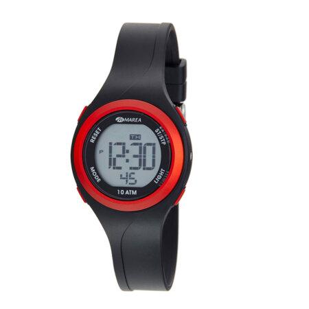 Marea Παιδικό Ψηφιακό Ρολόι Μαύρο Λουράκι Καουτσούκ B40191-1