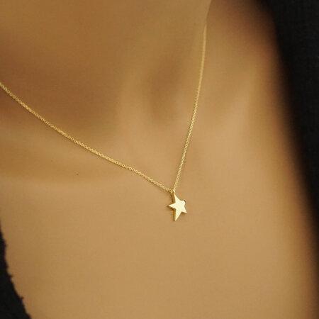 Μενταγιόν Αστέρι Κίτρινο Χρυσό 9 Καρατίων