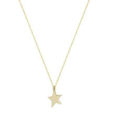 Μενταγιόν Αστέρι Κίτρινο Χρυσό 9 Καρατίων Με Αλυσίδα (κωδ: GM264)