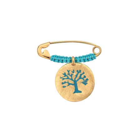 Παραμάνα Για Αγόρι Δέντρο Της Ζωής Από Χρυσό 9 Καρατίων (κωδ: GP134)