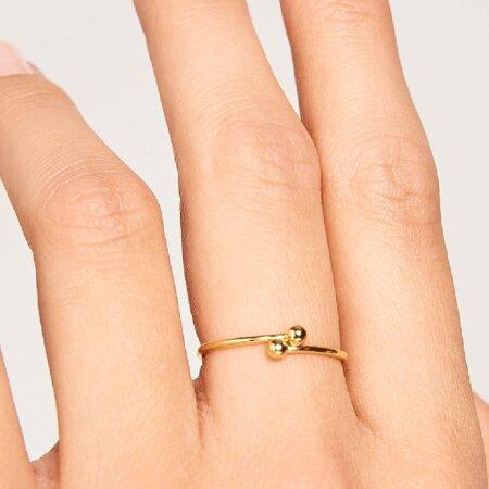 PDPAOLA Aura Gold Επίχρυσο Δαχτυλίδι Γυναικείο Ασήμι 925 AN01-128-1