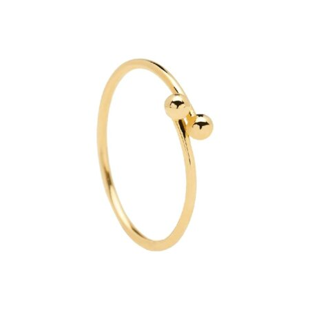 PDPAOLA Aura Gold Επίχρυσο Δαχτυλίδι Γυναικείο Ασήμι 925 Επιχρύσωμα 18Κ AN01-128-1