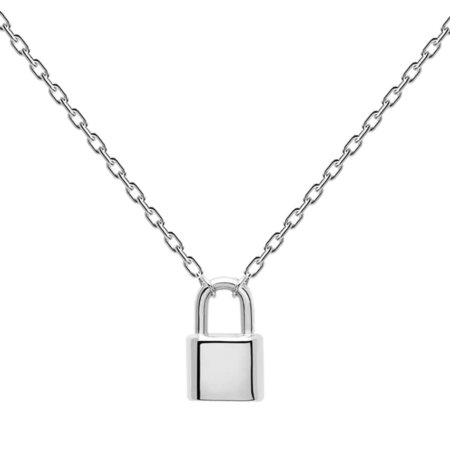 PDPAOLA Bond Silver Κολιέ Λουκέτο Ασήμι 925 CO02-086-U