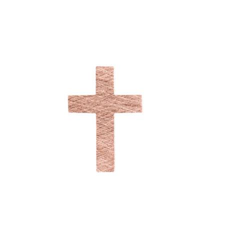 Ροζ Χρυσός Σταυρός 14Κ Με Δύο Όψεις (κωδ: GC603)