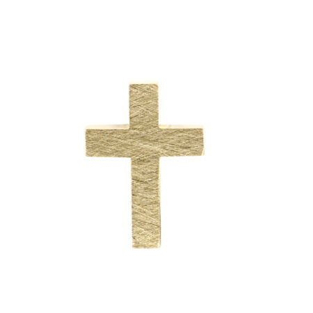 Σταυρός 14 Καράτια Κίτρινος Χρυσός Δύο Όψεων (κωδ: GC598)