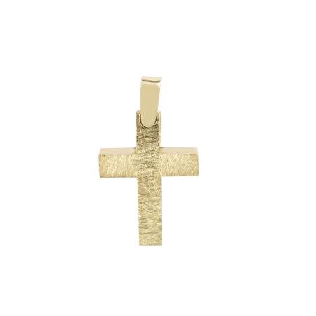 Σταυρός 14 Καράτια Κίτρινος Χρυσός (κωδ: GC612)