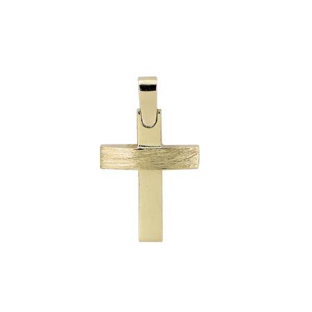 Σταυρός Χρυσός 14 Καρατίων Και Για Τα Δύο Φύλα (κωδ: GC611)