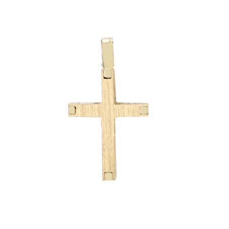 Σταυρός Χρυσός Γυναικείος Και Ανδρικός 14 Καρατίων (κωδ: GC600)