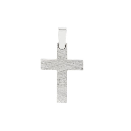 Σταυρός Λευκόχρυσος 14 Καράτια Δύο Όψεων (κωδ: GC601)
