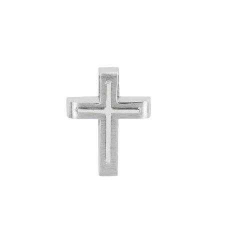 Σταυρός Λευκόχρυσος Για Αγόρι Και Κορίτσι 14 Καράτια (κωδ: GC606)